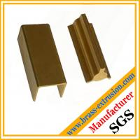 golden color brass extrusion profiles section hardware