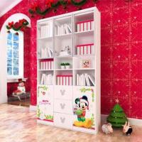 Wholesale E0 Grade Kids'/Children's Furniture/Bookcases, 3-door Book Cabinet with Printing Cartoon Designs from china suppliers