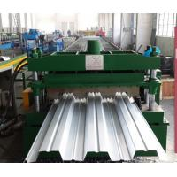 China High Speed Metal Roof Deck Forming Line , Hydraulic Tile Making Machinery on sale