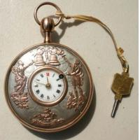 China New Stylish Stainless Steel Quartz Antique Pocket Watch on sale