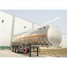 Steel Fuel Tanker Trailer / 3 Axle oil tanker truck trailer