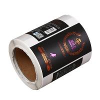 China custom Self adhesive sticker label printing for Wines & spirits bottle factory on sale