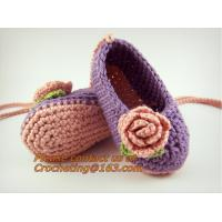 Wholesale Crochet Baby, Booties, Socks Knitted, Newborn Loafers Shoes Plain Infant Slippers Footwea from china suppliers