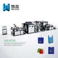 Wholesale Full Automatic Non Woven Box Bag Making Machine With Online Handle Attach from china suppliers