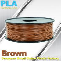 Wholesale Brown PLA Filament 3D Printer Materials  1kg  / spool from china suppliers