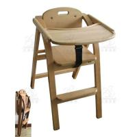 Safety Beech Wooden Baby High Chairs Eco Friendly Baby