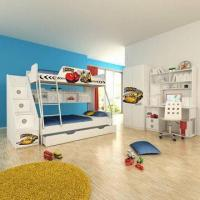Wholesale E0 Grade Kids' Bunk Bed, Furniture, Home Product, Ladder Chest, Disney, Car from china suppliers