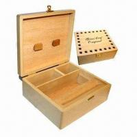 Wholesale Square wooden box, natural color from china suppliers