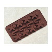 Buy cheap Christmas DIY Silicone Chocolate Tray Water - Proof 21.2 * 10.6 * 1.4cm from wholesalers