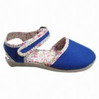 Wholesale Hot Girls' Wedge Shoe, Espadrilles Canvas Upper, TPR Outsole, Sized 36 to 41# from china suppliers