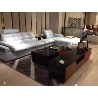 modern living room genuine leather sectional sofa furniture