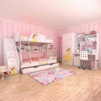 Wholesale E0 Grade Children's Bunk Bed Furniture, Home Product, Princess, Disney, Ladder Chest, Bed Chest from china suppliers