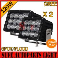 Wholesale High Power7.4 INCH 120W CREE LED DRIVING LIGHT 4X4 FOG LIGHT OFFROAD MACHINERY 4WD ATV SUV from china suppliers