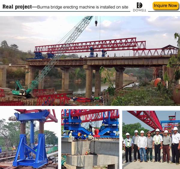 concrete lifting crane bridge girder erection machine