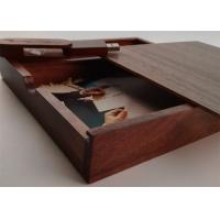 Wholesale Customized Wedding Album Presentation Box , Wooden Photo Keepsake Box from china suppliers