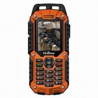 China Rugged GPS navigation Mobile Phone with Dual Sim Card, Meets IP57 Water-resistant Standard on sale