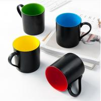 Wholesale certification SGS/CE No.9910 for 2018 new items style custom 45% Ashes bone china black colors coffee mug from china suppliers