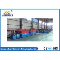 China Accuracy Profile Door Frame Roll Forming Machine 14-18 Roller Hydraulic Mould Cutting on sale