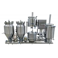 Wholesale 100L Brewing System , Stainless Steel Gas Heated Brewhouse With Three Tanks from china suppliers