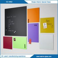 Buy cheap Custom Sizes, Colorful Glass Writing Board W/O Magnetic from wholesalers