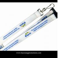 Wholesale Manufacturer 15*1000mm Promotional Custom Printed logo Poyester Neck Lanyard from china suppliers