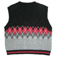 Buy cheap 100%Cotton Boy′s Argyle Knitted Vest (SFY-A031) from wholesalers