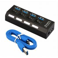 Micro Mini Powered USB 3.0 Hub 4 Ports Support WINDOWS IOS Operating System With On / Off Switch