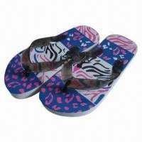 Wholesale Cute Children's Flip Flops, Made of PVC Upper and PE Outsole Materials, 28 to 35# Sizes from china suppliers