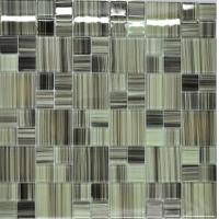 China Grey green puzzel glass kitchen tiles on sale