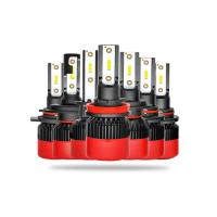 Buy cheap All In One LED Car Headlight Bulbs High Low Beam With Black Red Housing from wholesalers