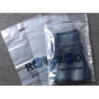 Wholesale clear plastic die cut handle tote printed logo  zplock bags reclosable bags  for garments  gift cosmetic packing from china suppliers