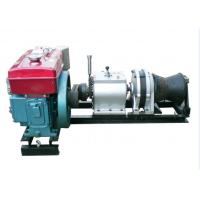 Cable Pulling Winches 5 Ton Variable Speed Diesel Power Winch For Tower Erection