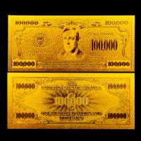 China banknote $100000 United States gold dollar bill with pressed inscriptions on sale