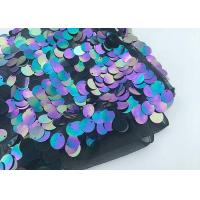 Buy cheap Multi 18mm Large Colorful Sequin Fabric Designing Clothing Iridescent Color from wholesalers