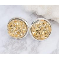 Buy cheap Raw Stone Stud Druzy Stud Earring Fashion Women Unique Stud Earrings For Engagement from Wholesalers