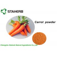 Wholesale 100% Pure Vegetable Extract Powder , Organic Carrot Juice Powder With Vitamin B1 from china suppliers
