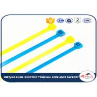 China Customized Nylon Cable Ties / colored cable ties plastic For power indutry on sale