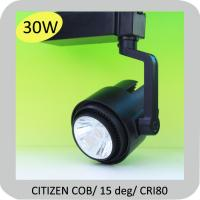 Wholesale 30W CITIZEN COB commercial led track lighting systems with 3 years warranty from china suppliers