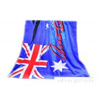 "Wholesale 30""*60"" Velour Custom Printed Beach Towels With Australian Flag from china suppliers"