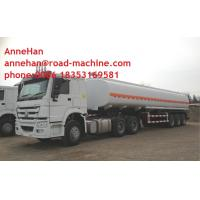 Wholesale 40M3 Capacity Diesel Semi Trailer Trucks / Fuel Tanker Truck 14100 * 2500 * 3780 mm from china suppliers