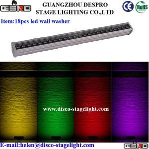 Colorful DMX 512 LED Wall Washer Lights Church Stage Strip Bar Light Energy Saving