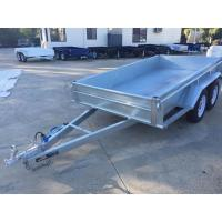 Wholesale 10x5 Hot Dipped Galvanized Tandem Trailer 3200KG With Mechanical Disk Brakes from china suppliers