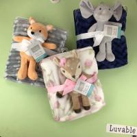 Buy cheap Printed Flannel Swaddle Blanket Travel High Warmth Retention Children Animal For from wholesalers