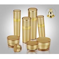 Wholesale 5ml-120ml Golden Pyramid Round Acrylic Lotion Bottle Packaging for skin care from china suppliers