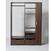 Wholesale 3 Drawers Hotel Room Wardrobe With Stainless Steel Rod And 2 Shelves Closet from china suppliers