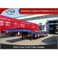 Buy cheap 2 Axles Low Bed Semi Trailer 20-40 Tons Machine Loading Spring Steel Suspension from wholesalers