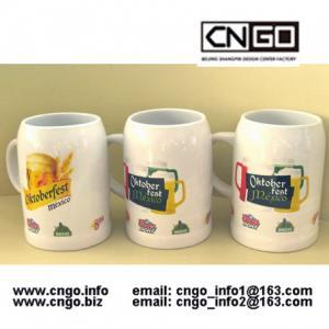 Wholesale High quality white beer mug ceramic beer mug custom colors LOGO 500ML beer mug from china suppliers