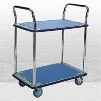 Wholesale Two-shelf Galvanized Trolley with Double Handles and Capacity of 200kg from china suppliers