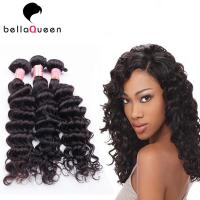 Buy cheap Natural Black Deep Wave Brazilian Virgin Human Hair Extension For Women from Wholesalers