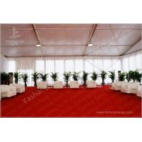 China Outdoor Aluminum Structure White Event Tents With Double Wing Glass Door on sale